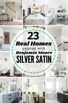 Benjamin Moore Silver Satin - is it the right paint color for your home? See it in 23 REAL homes to help you decide!! #silversatin #benjaminmoore #benjaminmooresilversatin #benjaminmooresilversatinbedroom #benjaminmooresilversatinkitchen #benjaminmooresilversatinlivingrooms #benjaminmooresilversatinbathroom #benjaminmooresilversatinpaint #benjaminmooresilversatinwalls #benjaminmooresilversatincabinets Benjamin Moore Silver Satin, Benjamin Moore Paint, Blue Kitchen Island, Kitchen Reno, Kitchen Ideas, Decorating Your Home, Diy Home Decor, Decorating Ideas, Indoor Paint