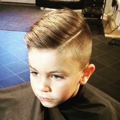 slick haircut with a quiff – Frisuren für Jungen – – Tepe Time Lil Boy Haircuts, Boys Fade Haircut, Boys Haircut Styles, Kids Hairstyles Boys, Little Boy Hairstyles, Toddler Boy Haircuts, Quiff Haircut, Short Hair Cuts, Short Hair Styles