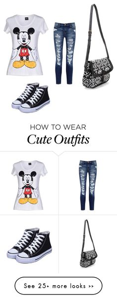 """Cute outfit for a day out!!"" by giselle1229 on Polyvore featuring Disney and Current/Elliott"