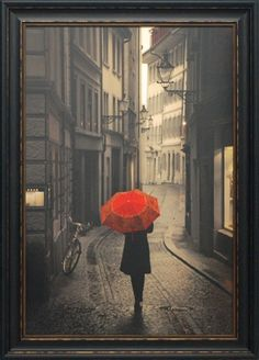 'Red Rain' by Patricia Pinto Framed Painting Print
