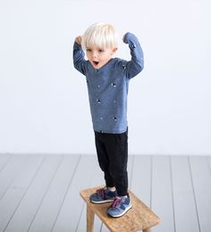 Image 1 of Star knee patch trousers from Zara Little Boy Fashion, Kids Fashion Boy, Toddler Fashion, Outfits Niños, Baby Boy Outfits, Kids Outfits, Toddler Boys, Baby Kids, Stylish Boys