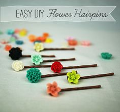 adorable, easy DIY flower hairpins @savedbyloves