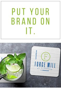 Cheers to #creativemarketing 🍹 Branded coasters for Lennar's Forge Mill community are the perfect visual reminder 👍