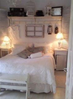 Cottage bedroom #Pretty #cottage #white