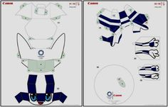 Tokyo 2020/2021 Olympic Games Mascots Paper Toys - by Canon