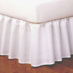 Magic Skirt Wrap-around Ruffled Bed Skirt - White (Queen)