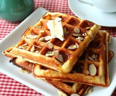 "Almond Flour Yogurt Waffles (Low Carb and Gluten Free) ""These truly have to be my favorite waffle recipe ever!!!"""