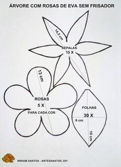 Flores de Mira: Árvore com Rosas de Eva sem Frisador: