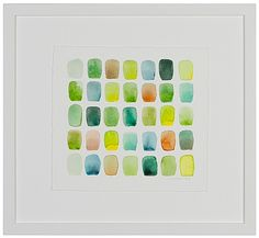 Chris Crossen 03 Study for Deep Creek, no. 2 Water color on paper, framed.