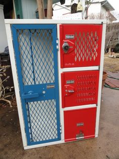 vintage lockers $198. I like the idea of using these for storage, public or not.