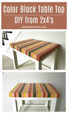 Woodworking Storage Build a unique pretty & super cheap table top with this Painted Wood Butcher Block Table Top DIY tutorial using Storage Build a unique pretty & super cheap table top with this Painted Wood Butcher Block Table Top DIY tutorial using