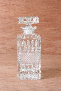 Glass Crystal Liquor Decanter by TheLovelyProspect on Etsy, $29.00