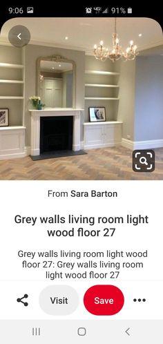 Wordly Gray, Grey Walls Living Room, Living Room Lighting, Room Lights, Flooring, Wood, Home Decor, Madeira, Homemade Home Decor