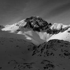 """The dramatic south face of 14er Wilson Peak, Lizard Head Wilderness, San Juan Mountains, CO."""