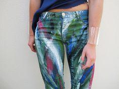 DIY painted pants.