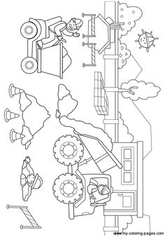 Construction Birthday, 2nd Birthday, Art For Kids, Coloring Pages, Party Themes, Jackson, Truck, Diagram, Scene