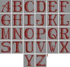 chart of needlepoint alphabets - Cheryl C. Fall