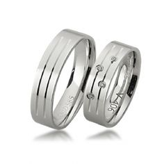 These unique solid white Gold Matching rings are Polish finish.Price is for both rings.The ladies wedding ring has 4 Round sparkling diamonds.Total diamond weight is carat.Both rings are wide.All of our wedding rings are individua Matching Wedding Bands, Matching Rings, Wedding Themes, Our Wedding, Couple Rings, Gold Polish, Wedding Rings For Women, Round Diamonds, Cufflinks