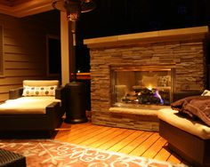Amazing Covered Deck With Wooden Deck Flooring Ad Stone Fireplace Design Decorated In Traditional Touch For Home Inspiration To Your House Modern Design Pictures, Stone Fireplace Designs, Deck Flooring, Diy Outdoor Kitchen, Covered Decks, Wooden Decks, Decks And Porches, Wood Interiors, Contemporary Architecture