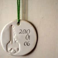 DIY Ornament - this is a great idea for our 2013 ornament to go with our new home! :o)
