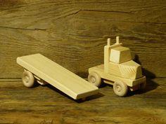 Hecho a mano carro juguete madera plana verde por OutOnALimbADK