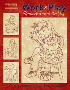 Work & Play, Redwork through the Day eBook - Leisure Arts