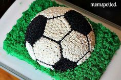 Kids Cake: How To Make A Soccer Ball Cake! I want to make this for Conners birthday Soccer Birthday Parties, Soccer Party, Ball Birthday, Cupcakes, Cupcake Cakes, Soccer Ball Cake, Soccer Cakes, Soccer Birthday Cakes, Sport Cakes
