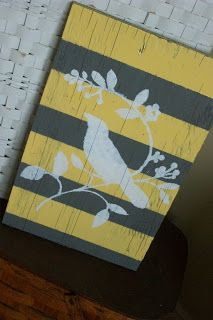 Ary Ann's Place: Bird sign from barnwood