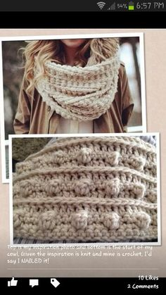 bobble stitch cowl Try as I may, I just can't seem to find a good link with the original source for this image!