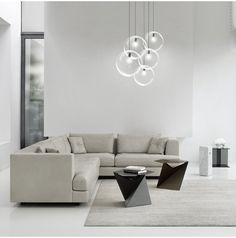 A versatile and easily adaptable pendant light made out of glass. Simple design glass bubble/ dome to house one E27 bulb inside (LED ready). Modern minimalist look to compliment a wide range of interior themes including commercial settings such as shops of restaurants or cafes. Number of bulbs 1 per head (sold separately) Power Max 40watt each head, 110 - 240V Fitting type E27 Screw In Type Colour Black bulb holder and black cord Single Ceiling Rose Diameter: 12cm diameter Cable length: ...