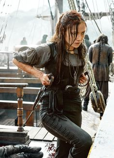 Clara Paget in 'Black Sails' (2014). x