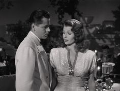 Glenn Ford and Rita Hayworth in Gilda 1946.