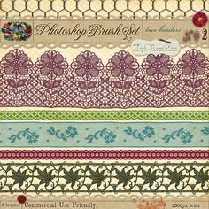 French lace borders photoshop brushes - graphic design