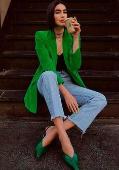 Уличная мода: Модный Инстаграм: Brittany Xavier, Füsun Lindner и Nina Schwichtenberg - ModaGid Coat Outfit, Blazer Outfits, Casual Outfits, Office Outfits, Simple Outfits, Casual Dresses, Fashion Mode, Look Fashion, Womens Fashion