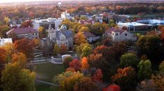 An Autumn day at Oberlin College in the small town of Oberlin, Ohio