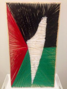 #palestine #stringart portrait with Palestine #map #flag #love #home #country #diy #art