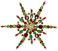 Simple yet stunning Christmas Beaded Snowflake DIY Project Beaded Christmas Ornaments, Snowflake Ornaments, Christmas Snowflakes, Christmas Star, Ornament Crafts, Christmas Jewelry, Christmas Crafts, Christmas Decorations, Beaded Snowflake