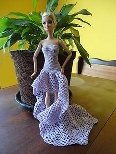 Barbie Doll Long Dree - Free Ravelry Download