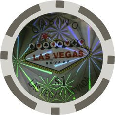 Promobo -Lot Rouleau de 25 Jetons 1$ Poker Texas Hold'em Casino Las Vegas Nevada