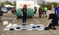 """KidZone Kansas City on Twitter: """"KidZone's GIANT Checkers got to hang out next to @instafunkcphotobooth  - photos & fun all in one! #kccorporatechallenge https://t.co/bR90vxtjtm"""""""