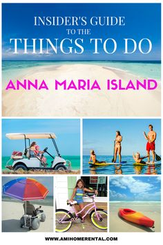 INSIDERS GUIDE - THINGS TO DO ON ANNA MARIA ISLAND. Save hours of searching online and book direct all from one source. A great selection of tours, rentals, experiences, and more. Check it out by clicking button below