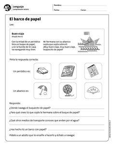 El barco de papel Spanish Classroom, Teaching Spanish, Spanish Immersion, Spanish Language, Reading Comprehension, Teacher, How To Plan, Education, School