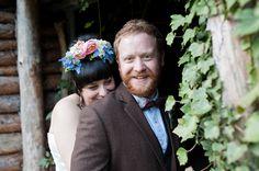 A Frida Kahlo Style Floral Crown For An Elegant 50′s Inspired Autumn Wedding | Love My Dress® UK Wedding Blog