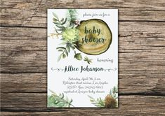 Hey, I found this really awesome Etsy listing at https://www.etsy.com/ca/listing/278891416/baby-shower-invitation-floral-wood-cut
