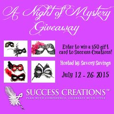 Night Of Mystery Masquerade Mask $50 GC Giveaway, ends 7/26