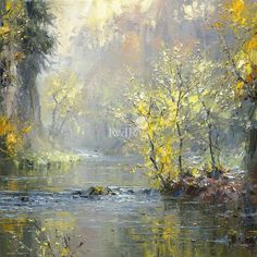 Rex PRESTON - Autumn, River Wye, Chee Dale: