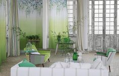 décoration murale salon assortie aux rideaux, SHANGHAI GARDEN