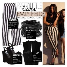 """""""TV Style: Pretty Little Liars (Emily Fields)"""" by hafsahshead ❤ liked on Polyvore featuring Abercrombie & Fitch, Episode, Isabel Marant, Chico's and Steve Madden"""