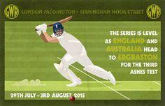 Vintage Cricket Poster Pastiche 2015 Ashes Test by DadManCat