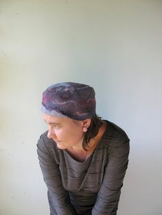 Purple Nuno Felted  Hat by realfaery on Etsy